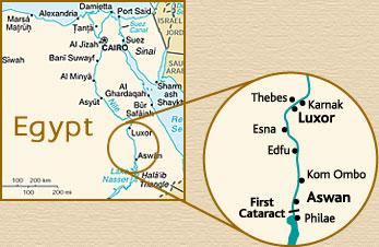 MS Sherry Boat Luxury Nile River Cruise In Egypt Cruise - Map of egypt karnak
